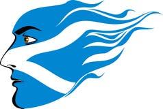 Gesicht von schottischen Männern Lizenzfreies Stockbild