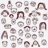 Gesichter Lizenzfreies Stockfoto
