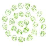 Gesichter Stockbilder
