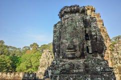 Gesichter in Bayon-Tempel Stockbild