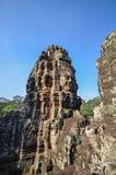 Gesichter in Bayon-Tempel Stockfotos