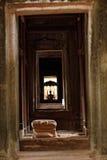 1000 Gesichter Buddha-Tempel in Bayon Stockfotografie