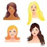 Gesichter der Frauen Lizenzfreie Stockfotografie