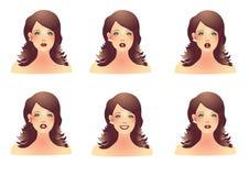 Gesichter der Frauen Stockfoto