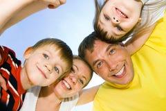Gesichter der glücklichen Leute Lizenzfreies Stockfoto