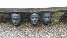 Gesichter in der Wand Lizenzfreies Stockbild