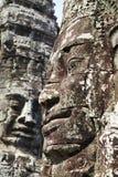 Gesichter des Bayon Tempels Stockfotografie