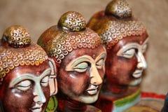 Gesichter des Lords Buddha Lizenzfreie Stockfotografie
