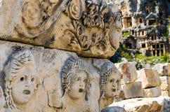 Gesichter Lycians 2 Stockfotografie