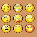 Gesichter mit Gefühlen Vektor lizenzfreie abbildung