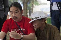 Gesichter von Hanoi Stockbild