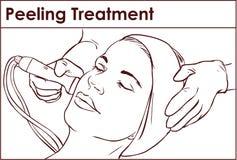 Gesichts- hydro-Microdermabrasions-Schalen-Behandlung vektor abbildung