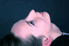 Gesichts-Nahaufnahme Stockfoto