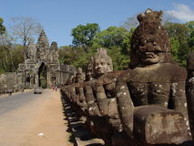 Gesichts-Statuen in Angor Wat Lizenzfreie Stockfotografie