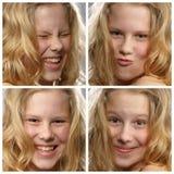 Gesichtsausdrücke Stockfotografie