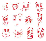 Gesichtsausdrücke Stockbild
