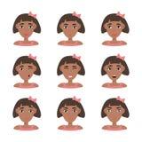 Gesichtsausdr?cke der Afroamerikanerfrau vektor abbildung