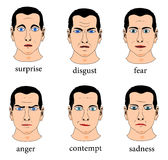 Gesichtsausdruck vektor abbildung