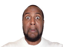 Gesichtsausdruck - lustige Überraschung Lizenzfreies Stockbild