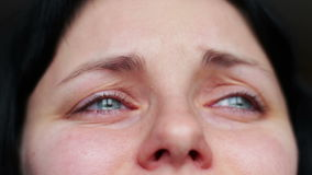 Gesichtsausdrucknahaufnahme - Risse, Schrei stock footage