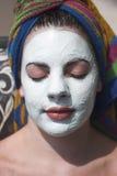 Gesichtsbehandlung Stockfoto