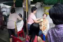 Gesichtsbehandlung auf Straße Lizenzfreie Stockbilder