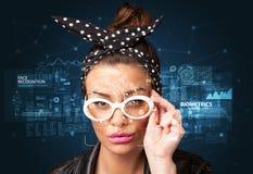 Gesichtsentdeckung und -anerkennung lizenzfreies stockfoto