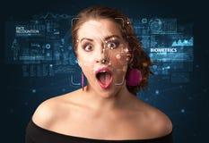 Gesichtsentdeckung und -anerkennung stockfoto