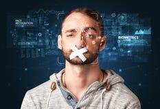 Gesichtsentdeckung und -anerkennung lizenzfreie stockfotografie
