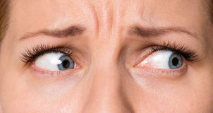 Gesichtsfrau mit Augen und den Wimpern Lizenzfreie Stockfotos