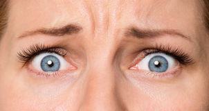 Gesichtsfrau mit Augen und den Wimpern Lizenzfreie Stockbilder