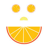 Gesichtsillustration mit Orange Stockbilder