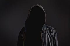 Gesichtsloser unerkennbarer Mann ohne Identität Stockfotos