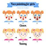 Gesichtsmalerei für Mädchen 2 Stockfotos