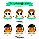 Gesichtsmalerei für Mädchen 2 Lizenzfreie Stockfotografie
