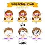 Gesichtsmalerei für Mädchen 3 Stockfotos