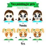 Gesichtsmalerei für Mädchen 2 Lizenzfreies Stockbild