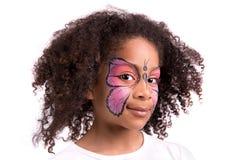Gesichtsmalerei, Schmetterling Stockfotos