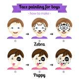 Gesichtsmalereijungen 3 Lizenzfreie Stockbilder