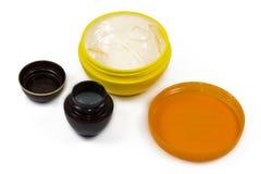 Gesichtspflegende kosmetik Stockbild