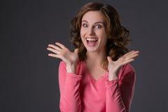 Gesichtsportrait der jungen Frau Stockfoto