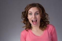 Gesichtsportrait der jungen Frau Stockfotografie