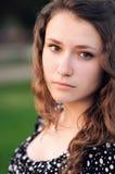 Gesichtsportrait einer schönen Mädchennahaufnahme Lizenzfreie Stockfotos