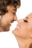 Gesichtsportrait eines schönen Paares lizenzfreies stockbild