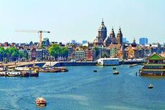 Gesichtspunkt auf Amsterdam stockbild