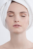 Gesichtsschönheitsporträt Stockbild