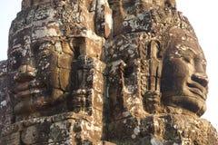 Gesichtsturm von Bayon-Tempel Lizenzfreies Stockbild