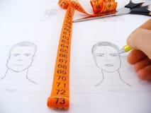 Gesichtszeichnung Stockfoto