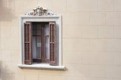 Gesierd venster Stock Afbeeldingen