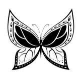 Gesierde abstracte silhouetvlinder Royalty-vrije Stock Afbeelding